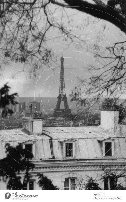 Blick von Sacré Coeur Paris Tour d'Eiffel Frankreich France