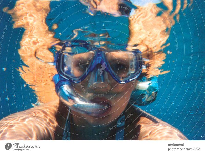 Schnorcheln aus Fischperspektive tauchen Meer Ägypten Sommer Freizeit & Hobby Wassersport Rotes Meer Marsa Alam Unterwasseraufnahme