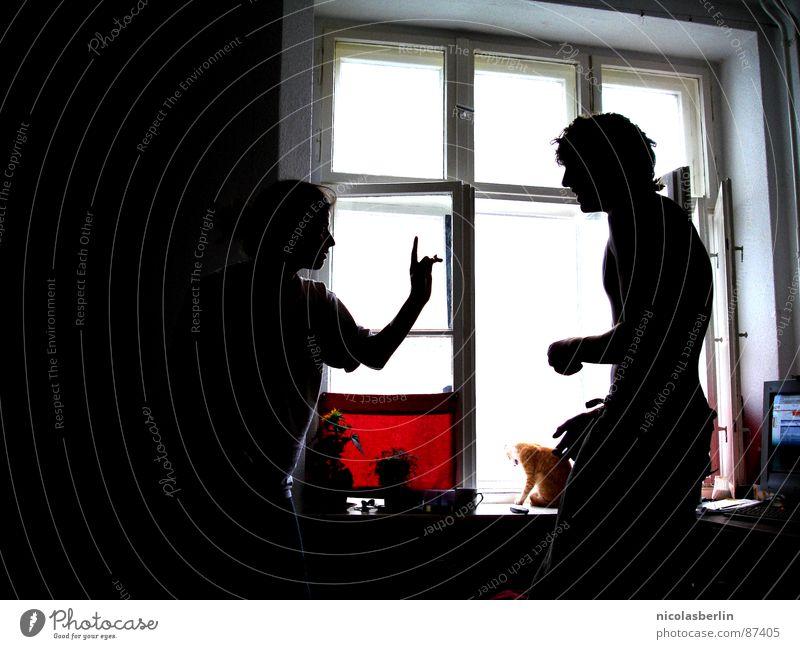 light show Freude schwarz Spielen Fenster Finger kämpfen