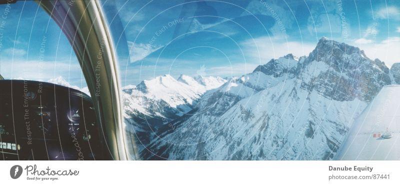Berge Sonne Bergkette über den Wolken Schnee Berge u. Gebirge weisse Berge traumhafter Blick Blauer Himmel