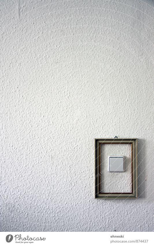 Kunst Stadt weiß Innenarchitektur Kunst Raum Häusliches Leben Design Dekoration & Verzierung ästhetisch trendy Tapete Wohnzimmer Schalter Bilderrahmen Lichtschalter Raufasertapete
