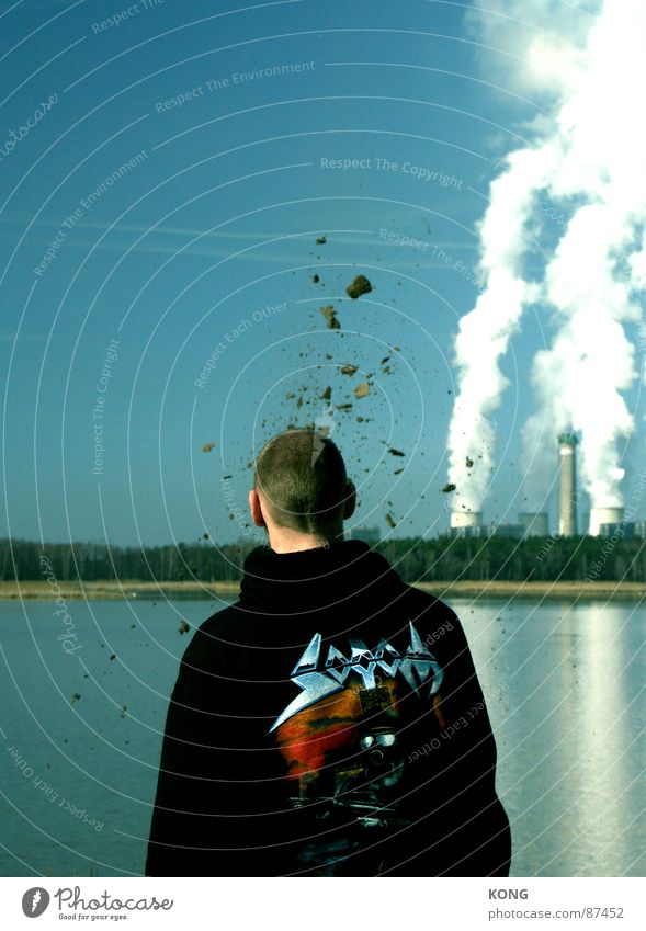 zuviel gedacht Explosion Horizont planen Splitter himmelblau Mann obskur Vergänglichkeit schwermetall exploding kopf explodiert metal music heavy metall