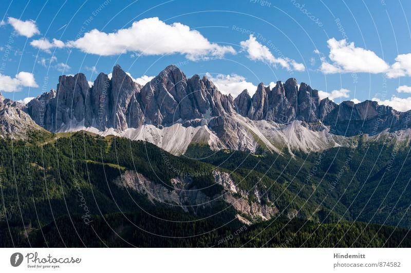 Rueffen Ferien & Urlaub & Reisen Umwelt Natur Landschaft Urelemente Himmel Wolken Sommer Schönes Wetter Wald Hügel Felsen Alpen Berge u. Gebirge Gipfel