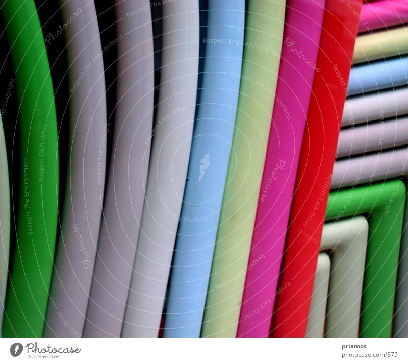 Stühle Stuhl Sessel mehrfarbig Fototechnik Farbe