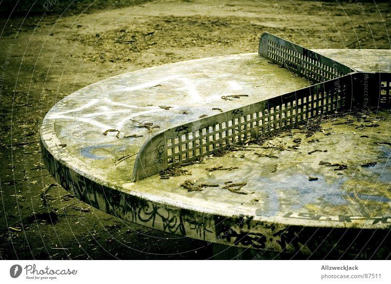 Graffiti Table Tennis 360 for 3 Tischtennis Ballsport Ghetto Block Hardcore Kunst Gemälde rund Chinesisch früher beschmiert Straßenkunst streichen alt
