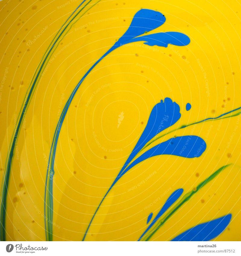 Vor-Grün Blume grün Pflanze gelb Blüte Farbstoff Herz Kunst Freizeit & Hobby streichen berühren Flüssigkeit Mischung Verlauf Übergang färben