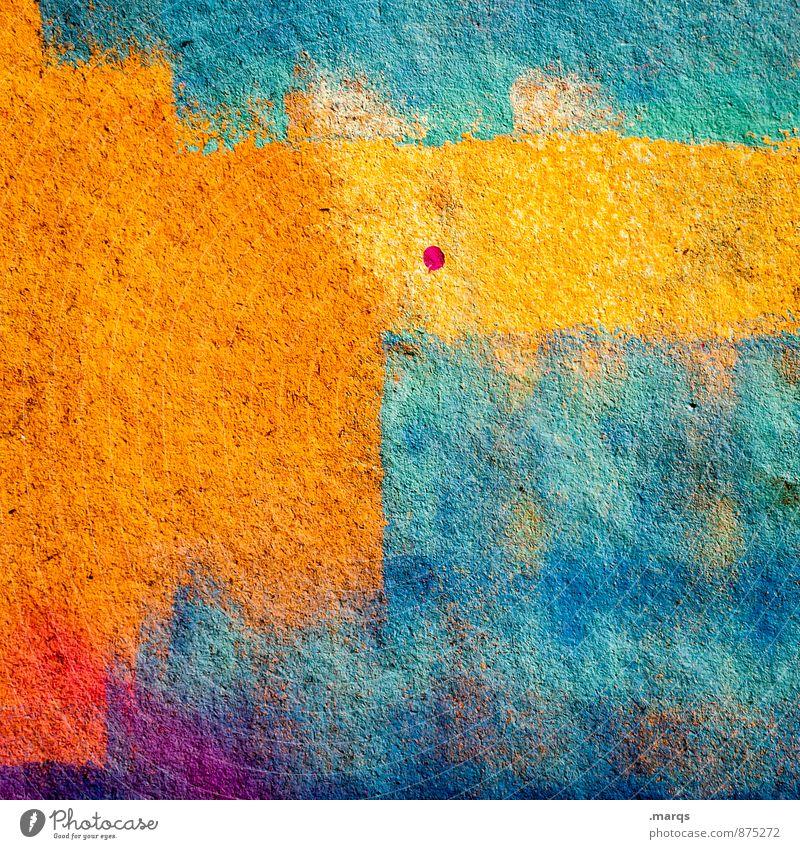 . Mauer Wand Graffiti einfach einzigartig mehrfarbig Farbe Hintergrundbild Farbfoto Außenaufnahme Nahaufnahme abstrakt Strukturen & Formen Menschenleer