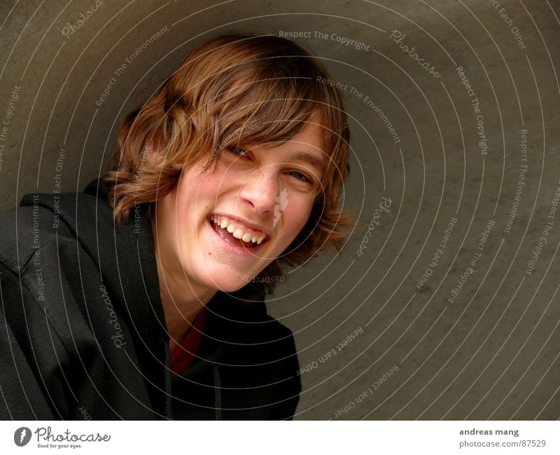 Lachen Freude lachen Haare & Frisuren Lebensfreude genießen Lust Begeisterung Halfpipe Mensch Wölbung