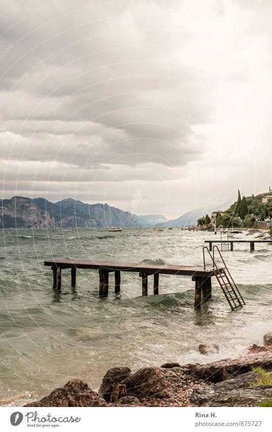 Heiter bis wolkig Himmel Wolken Horizont Sommer Herbst schlechtes Wetter Wind Sturm Regen Berge u. Gebirge Wellen Küste Seeufer Ferien & Urlaub & Reisen 2014