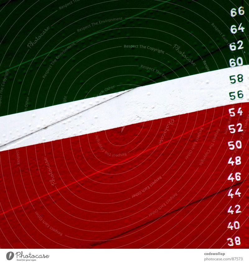 38/66 grün rot Ziffern & Zahlen Hafen Stahl historisch diagonal Stahlblech