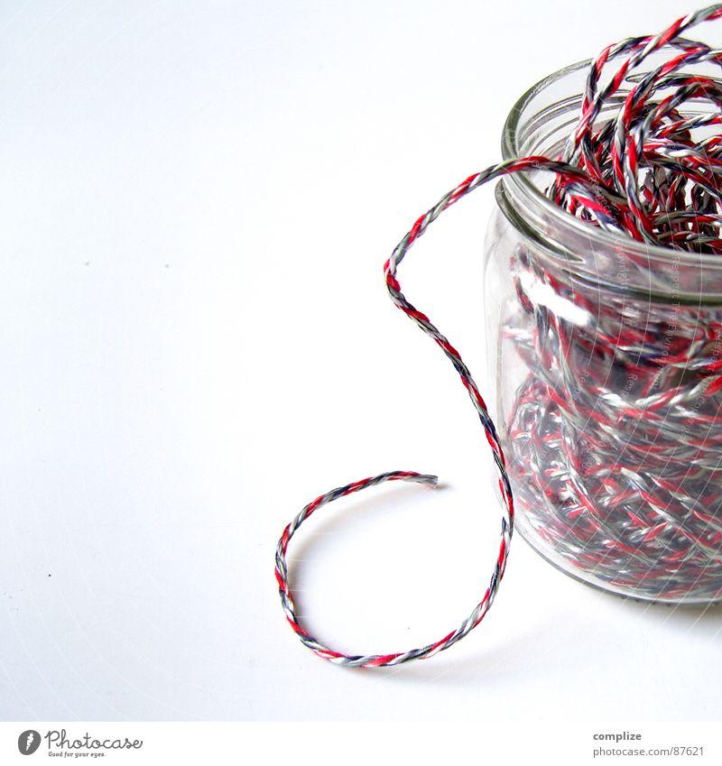 S rot Spielen Glas Seil Schriftzeichen Buchstaben Schnur Dienstleistungsgewerbe Bildung hängen Kindergarten Schulklasse Basteln Schreibwaren Marmelade