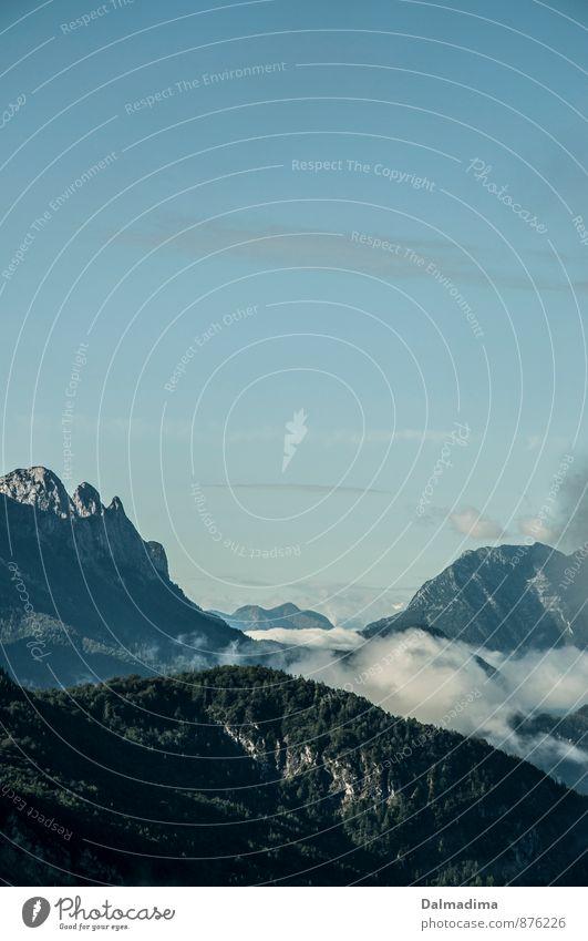 Gipfel wandern Umwelt Natur Landschaft Erde Himmel Klima Wetter Alpen Berge u. Gebirge groß Unendlichkeit hoch kalt Spitze Aussicht Wolken Berchtesgadener Alpen