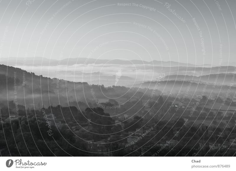Provence Morgen 2 Ferien & Urlaub & Reisen Ausflug Sommer wandern Umwelt Natur Landschaft Pflanze Himmel Horizont Sonnenaufgang Sonnenuntergang Herbst Nebel