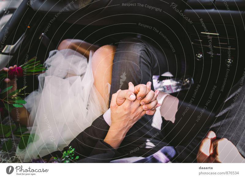 Liebe Lifestyle elegant Stil Freude Freizeit & Hobby Familie & Verwandtschaft Freundschaft Paar Partner Blume Verkehr Kleid Anzug Brautkleid Accessoire Schmuck