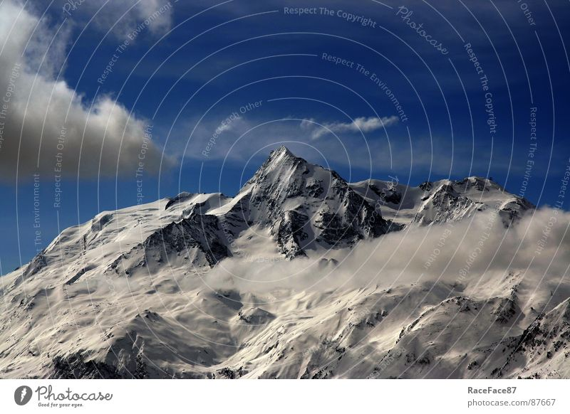 Mont Pourri Winter Schnee Berge u. Gebirge Schneelandschaft Ewiges Eis