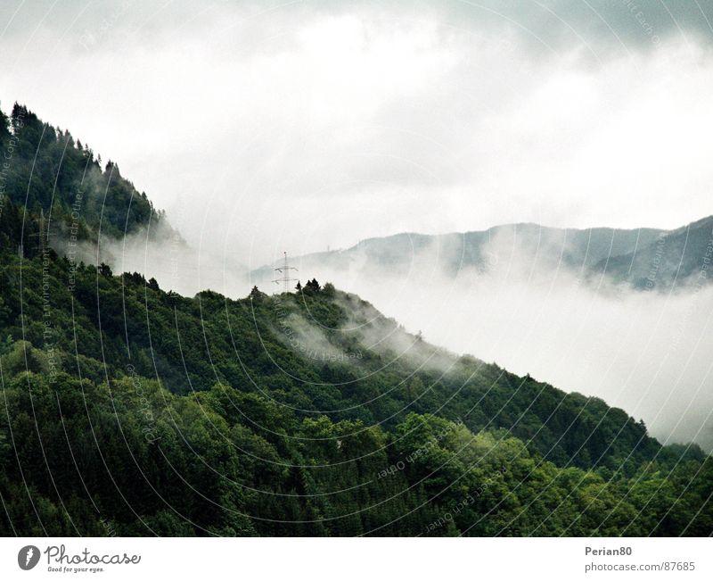 Clouds Himmel grün Wolken Berge u. Gebirge Landschaft Nebel Aussicht Schleier
