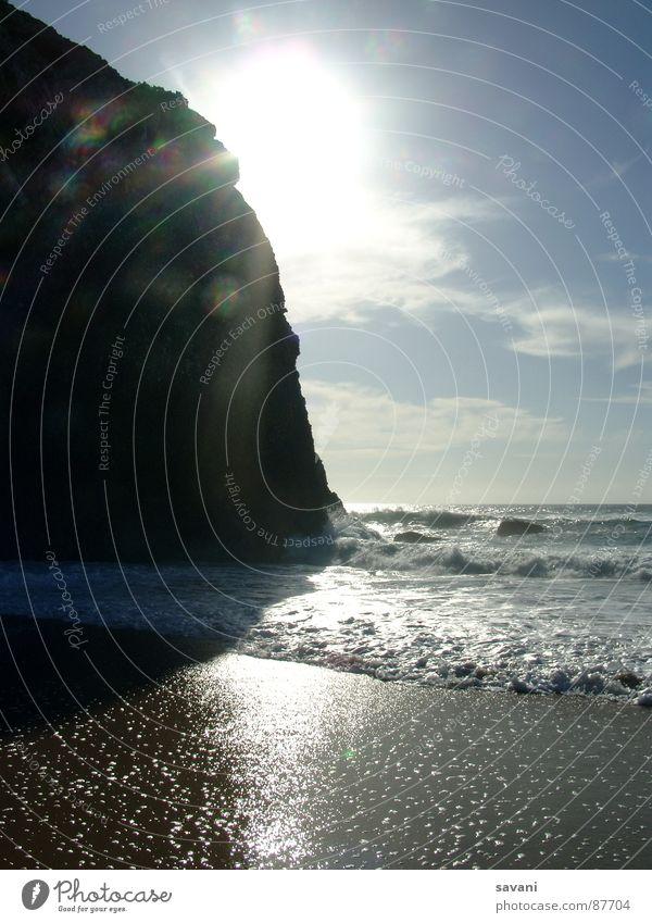 Mein Platz an der Sonne ... Himmel Natur Ferien & Urlaub & Reisen Sommer Sonne Meer Erholung Einsamkeit Landschaft Freude Wolken Strand Ferne Wärme Küste Freiheit