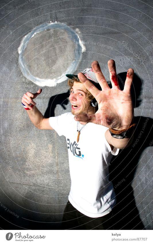Bluddy Hand! Mensch Jugendliche Freak Begeisterung