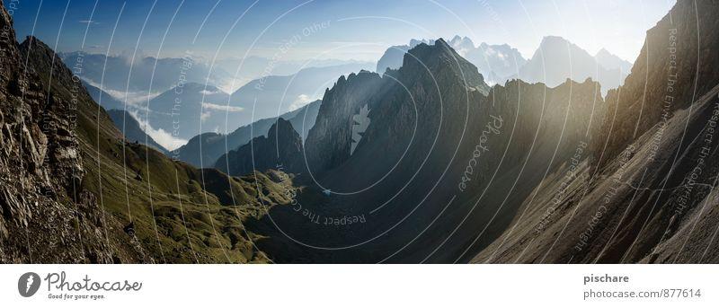 Lienzer Dolomiten Umwelt Natur Landschaft Schönes Wetter Berge u. Gebirge Gipfel eckig gigantisch Abenteuer Freiheit Farbfoto Außenaufnahme Menschenleer Morgen