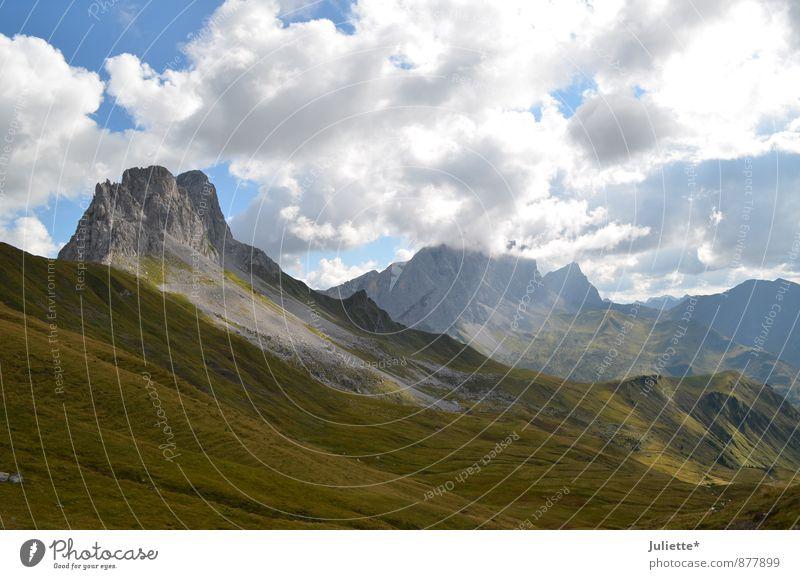 schöne Schweiz Himmel Natur Sommer Landschaft Wolken Freude Ferne Berge u. Gebirge Bewegung Wiese Herbst Gras Glück Horizont Felsen Wetter