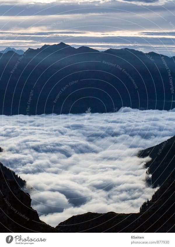 Brandung 2400m über NN Umwelt Natur Landschaft Urelemente Wasser Himmel Wolken Klima Wetter Nebel Alpen Berge u. Gebirge leuchten ästhetisch außergewöhnlich