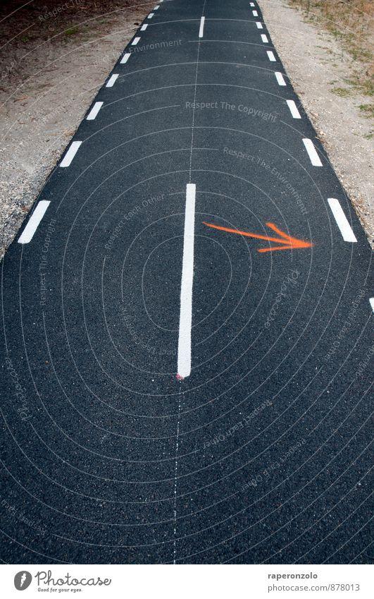 --->> Verkehr Straße Wege & Pfade Zeichen Schilder & Markierungen rebellieren Suche zeigen Pfeile anthrazit Fahrbahn einspurig Spur Gegenspur abbiegen