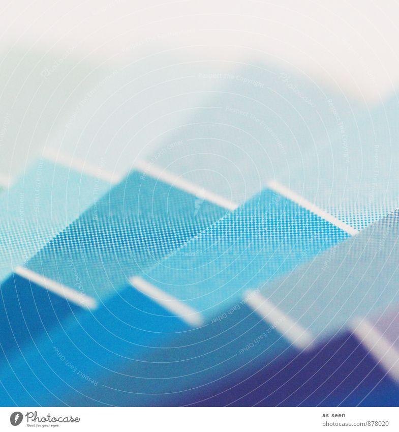 Blue print Druckerei Drucktechnik Druckvorstufe drucken Printmedien Druckerzeugnisse Medien Papier Fächer blau türkis weiß Design Farbe Kreativität Leistung