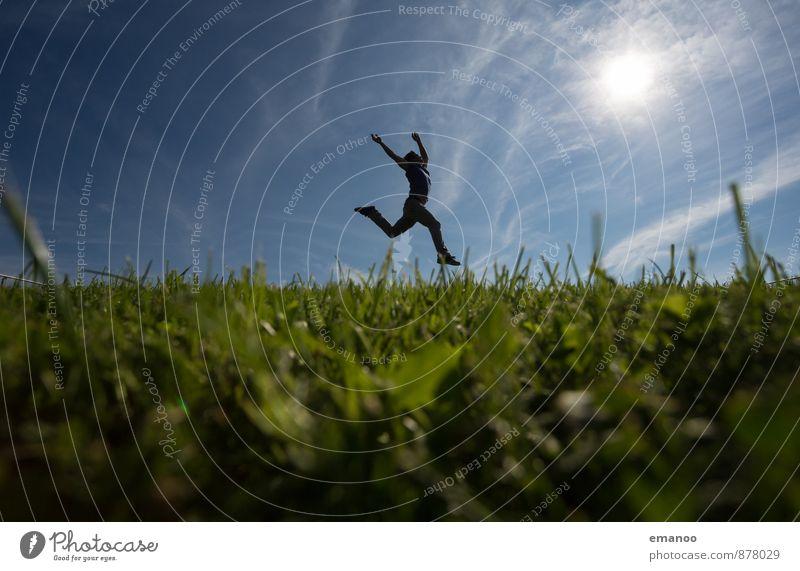 Spassgras Lifestyle Stil Freude Ferien & Urlaub & Reisen Ferne Freiheit Mensch maskulin Mann Erwachsene Jugendliche Körper 1 Natur Landschaft Himmel Horizont