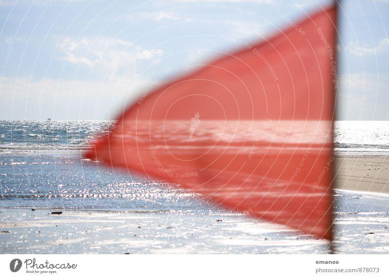 Badeverbot Schwimmen & Baden Freizeit & Hobby Ferien & Urlaub & Reisen Tourismus Sommer Sonne Strand Meer Natur Landschaft Wasser Himmel Horizont Wetter Wind