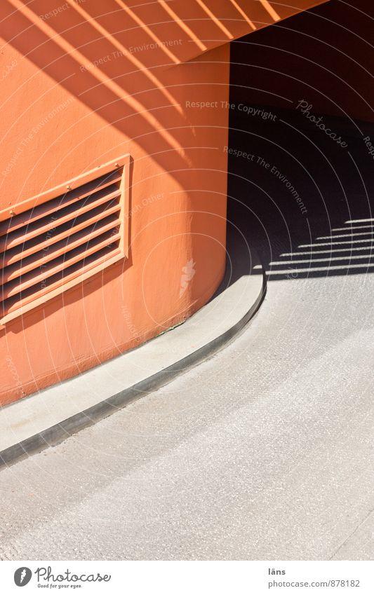 Untergrund orange Einfahrt Verkehr Straße Tiefgarage parken