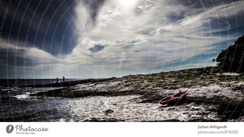 angekommen Natur Ferien & Urlaub & Reisen blau weiß Wasser Sommer Erholung Landschaft Wolken Ferne Umwelt Gefühle Schwimmen & Baden Freiheit Stimmung Freizeit & Hobby