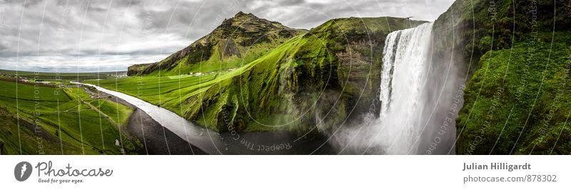 let the river flow Gesundheit Fitness harmonisch Erholung ruhig Umwelt Natur Landschaft Pflanze Tier Wasser Himmel Wiese Hügel Insel Fluss Wasserfall alt