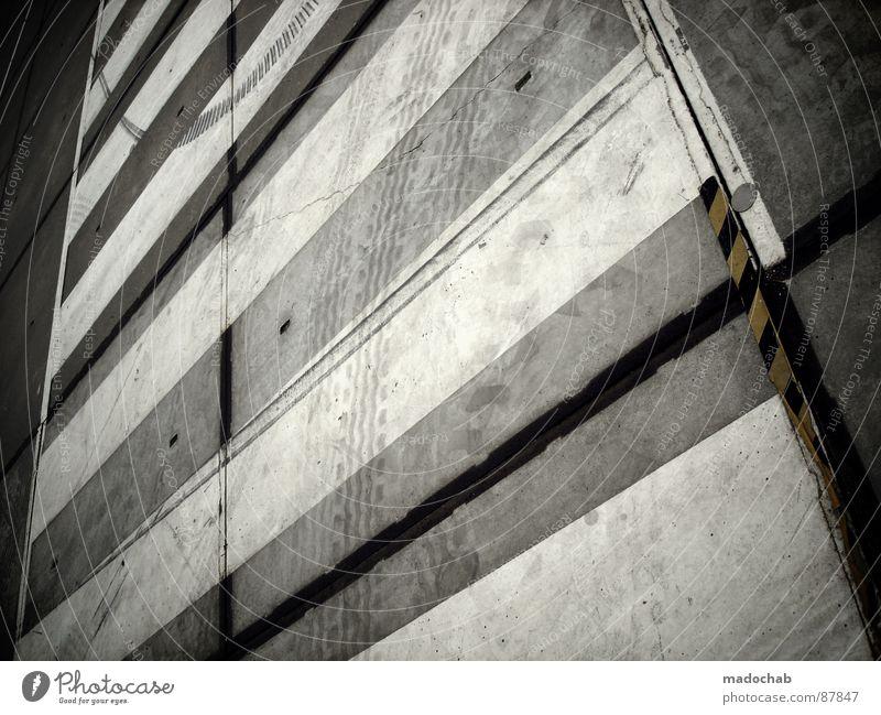 STRIPES VERSUS STRIPES rot Straße Stil Denken Linie dreckig Hintergrundbild Schilder & Markierungen Verkehr einfach Asphalt Streifen trashig Hinweisschild