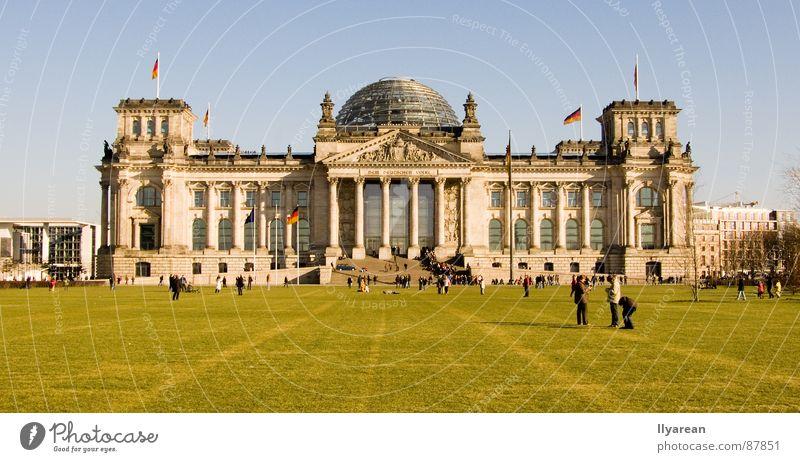 Reichstag Berlin Architektur Schönes Wetter historisch Deutscher Bundestag