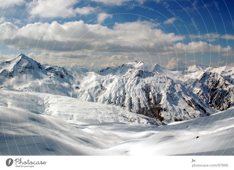 "Pointe de la Masse Wolken Ferien & Urlaub & Reisen Wintersport Berge u. Gebirge Alpen Schnee """"Les 3 Vallées"""" """"Les Menuires"""""
