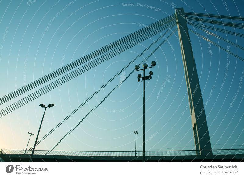 Yet Another Bridge Himmel Brücke Hafen Laterne Straßenbeleuchtung Mannheim Pylon Hochstraße