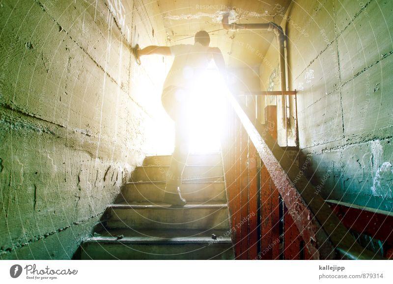 irgendwo im keller mitten in berlin Karriere Erfolg Mensch maskulin Mann Erwachsene 1 30-45 Jahre Zukunft Treppe Keller Tag Treppengeländer Treppenhaus aufwärts