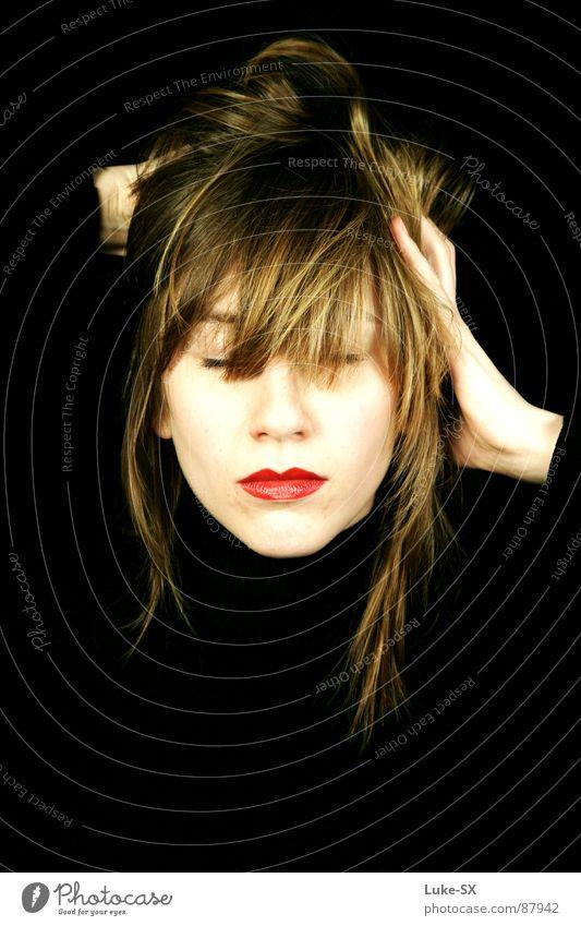 anne Frau schön ruhig Erholung Haare & Frisuren Mund Lippen Dame selbstbewußt Glamour