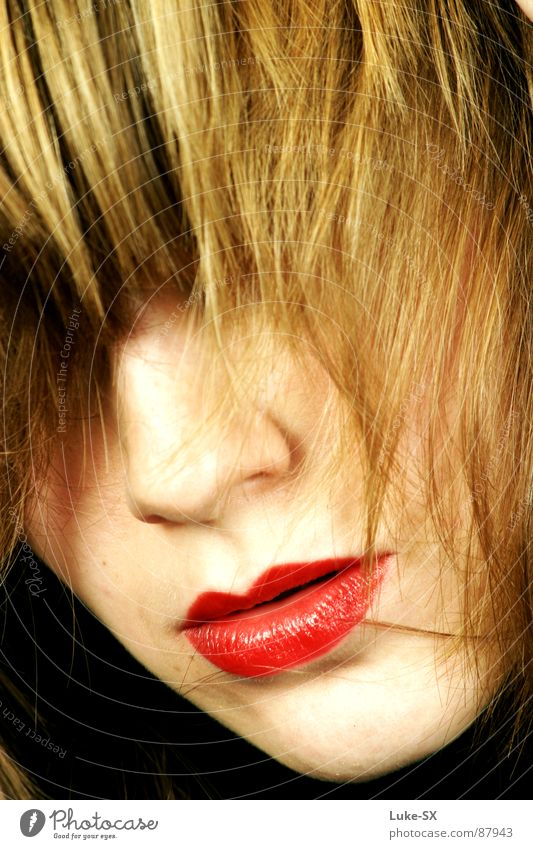 annes mund Haare & Frisuren Macht Lippen geheimnisvoll stark Dame seltsam verführerisch intensiv Sänger Primadonna