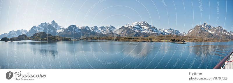 The Mountain Natur Landschaft Wasser Schönes Wetter Wiese Feld Wald Hügel Felsen Alpen Berge u. Gebirge Gipfel Schneebedeckte Gipfel Gletscher Bootsfahrt