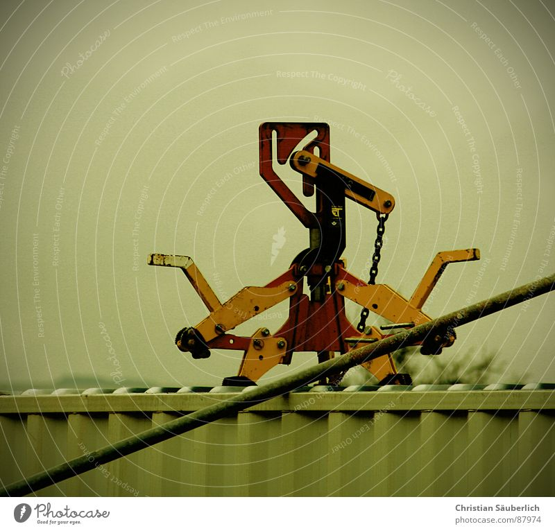 I ROBOT Industrie Baustelle Stahl Eisen Stab Roboter Lastenaufzug Eisenstangen