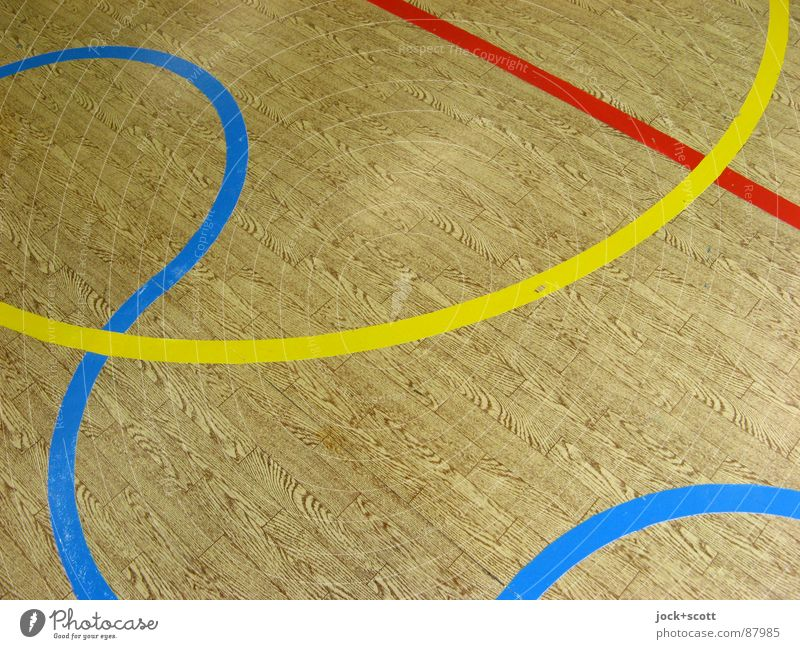 Schau Genau auf die Linien, Holzimitat Wellen Design Konkurrenz Ordnung Perspektive Stil wahrnehmen kreuzen Norm Geometrie Regel Grenze Spielfeld Treffpunkt