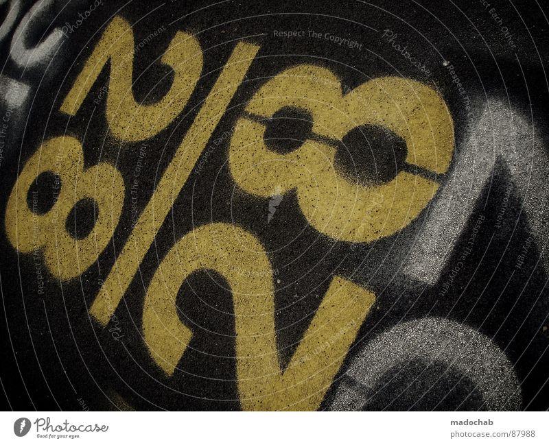 2TWENTYEIGHT8 gelb Straße Bewegung Wege & Pfade Stil Denken Linie Feste & Feiern Hintergrundbild dreckig Geburtstag Verkehr Hinweisschild Streifen Ziffern & Zahlen Grafik u. Illustration