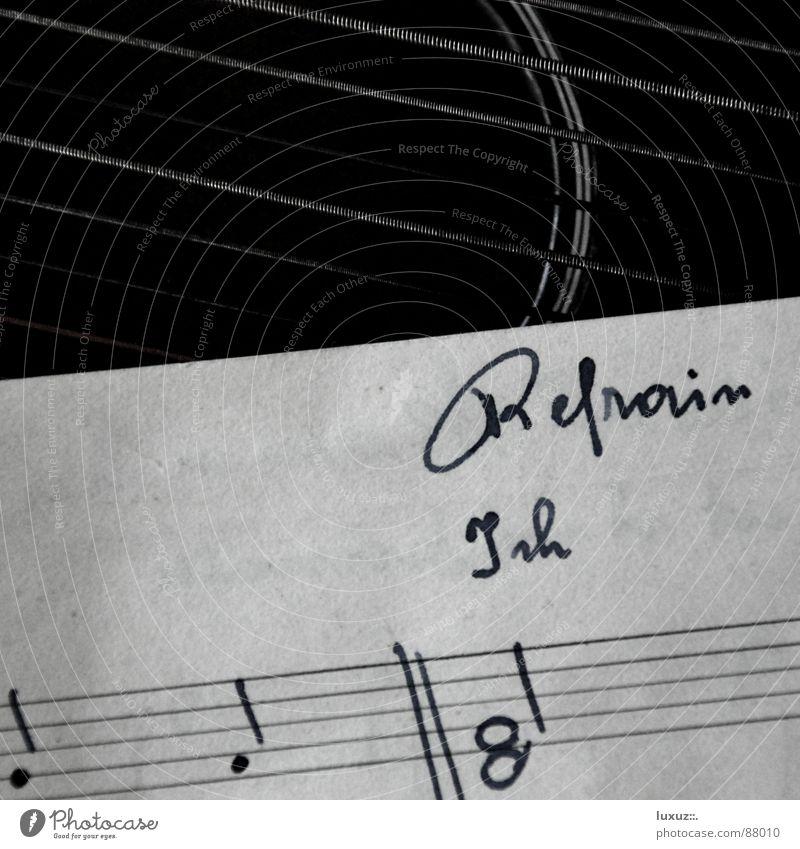 immer wieder ... Bundesland Tirol Saiteninstrumente Entertainer Pergamentpapier Tinte Musik Weisheit ländlich Typographie Buch Notenheft Lied Musiknoten Gesang