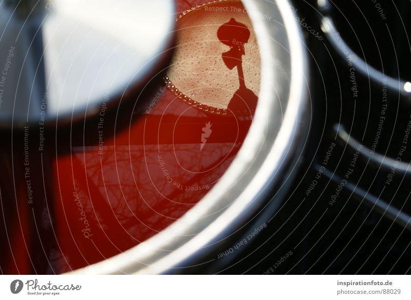 quartercircle rot schwarz Glas Dekoration & Verzierung Ast silber Am Rand Zweig Lampenschirm Ständer Lampenfuß