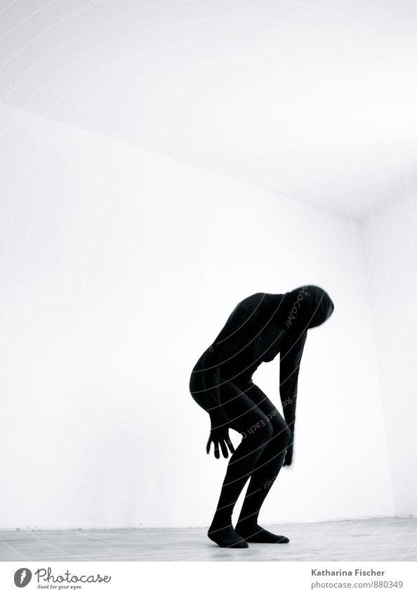 #880349 Mensch Jugendliche weiß 18-30 Jahre schwarz Erwachsene Bewegung grau außergewöhnlich Kunst springen Raum 45-60 Jahre dünn Stress Anzug