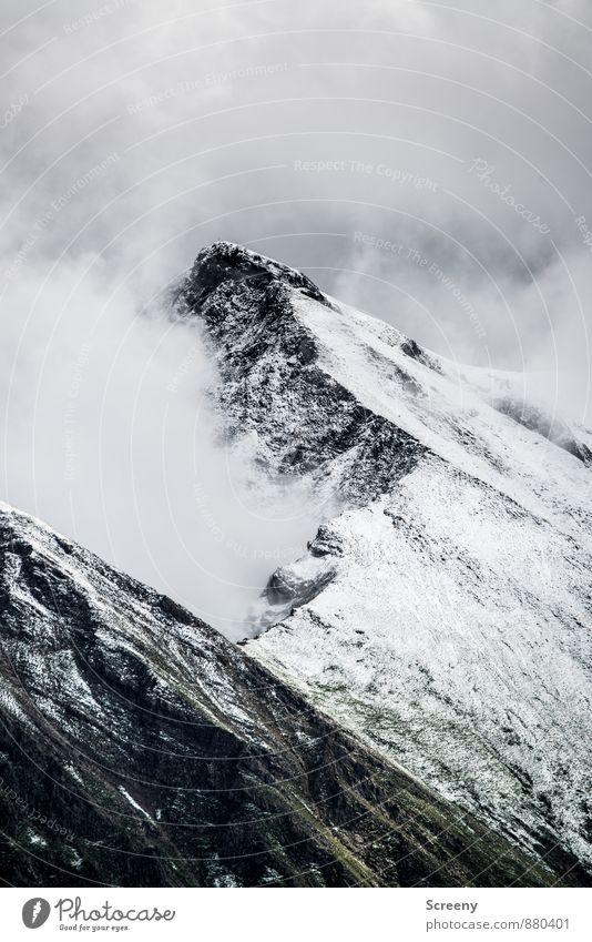 Das ist wohl der Gipfel... Himmel Natur Ferien & Urlaub & Reisen Landschaft ruhig Wolken Ferne Berge u. Gebirge Felsen Wetter Kraft Idylle Tourismus wandern