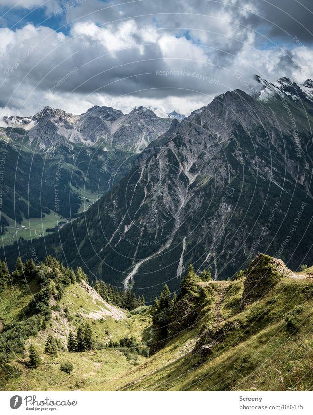 Blick vom Walmendinger Horn Himmel Natur Ferien & Urlaub & Reisen Pflanze Sommer Landschaft Wolken Ferne Berge u. Gebirge außergewöhnlich Felsen Wetter Kraft