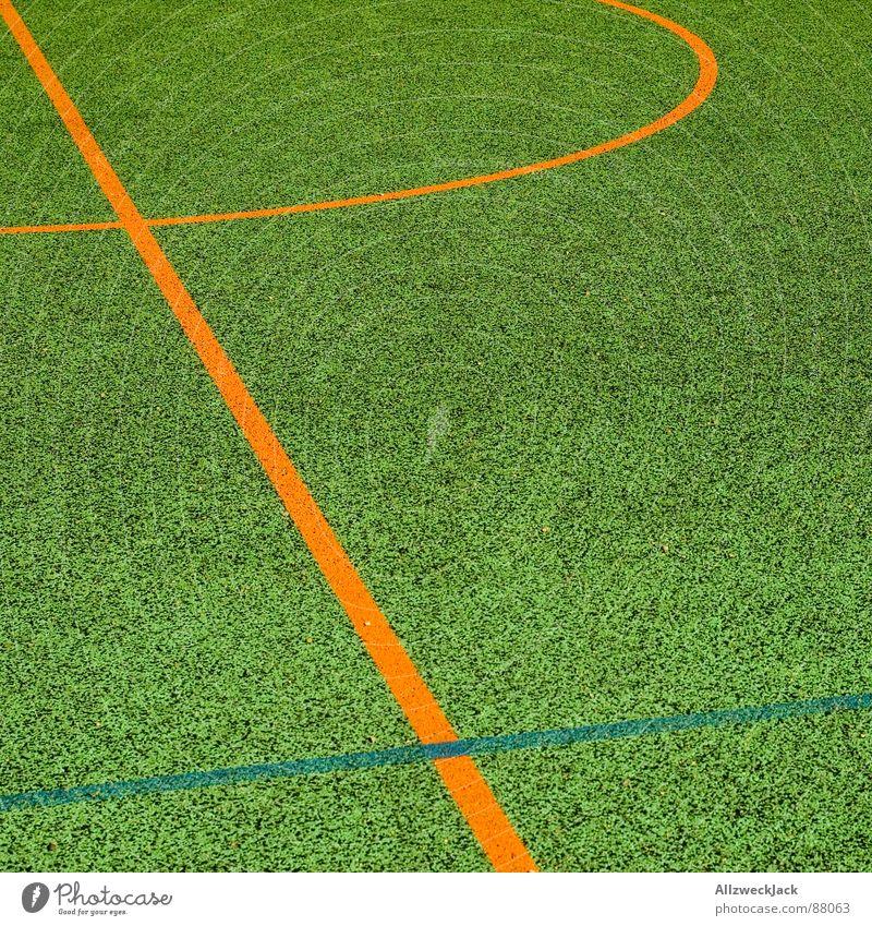 a piece of Spielfeld Sport Spielen Linie orange Platz Biegung Ballsport Sportplatz Basketballplatz