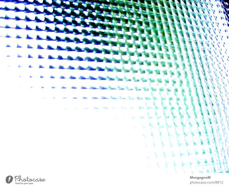 Fenster grün blau Fensterscheibe Fototechnik